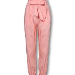 Pants & Jumpsuits - Frill Waist Belted Tied Ankle Pants